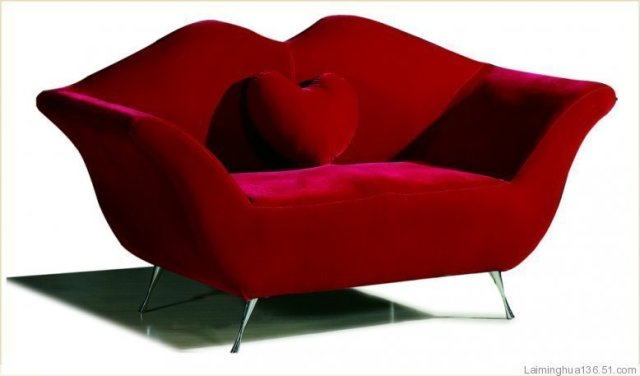 Couples sofa sofa chair sofa fabric sofa lip sofa lips heart-shaped sofa