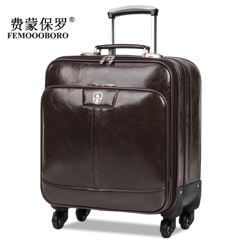Popular Black Leather Suitcase-Buy Cheap Black Leather Suitcase ...