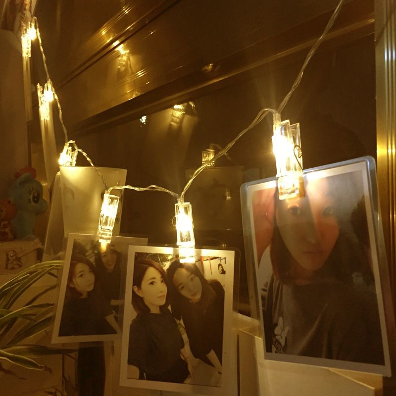 LED Clip Photo Hanging Wall Light Clip Fairy String Light Chains Lamp Picture Birthday Party Decoration Battery