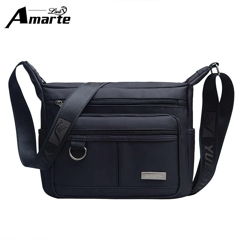 Men Bags Nylon Messenger Men   Women Designer Brand Fashion Crossbody  Shoulder Bag Solid Male Casual 8d0ffa1afe182