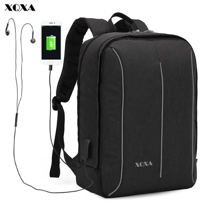 XQXA NEW Bolsa Feminina 14 To 17.3 Inch Laptop Backpack Men Business Bag College Mochila Backpack School Bags for Teenager Boys lowepro protactic 450 aw backpack rain professional slr for two cameras bag shoulder camera bag dslr 15 inch laptop