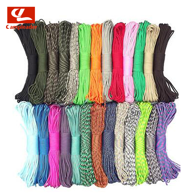 550 Military Regulations 9 Core Umbrella Rope Outdoor Paratrooper Traction Rescue Bundled Rope Clothesline Tent Rope 31M CL264