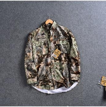 2019 mężczyźni koszula myśliwska kamuflaż Outdoor LS koszula odzież myśliwska człowiek koszule wędkarskie szybkoschnąca koszula Plus rozmiar amerykański M-3XL Camisa tanie i dobre opinie Camping i piesze wycieczki Poliester Pełna Suknem Szybkie suche Moc suche men hunting shirts Pasuje prawda na wymiar weź swój normalny rozmiar