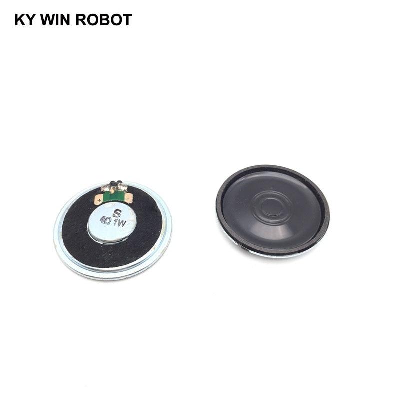 2pcs/lot New Ultra-thin Mini Speaker 4 Ohms 1 Watt 1W 4R Speaker Diameter 40MM 4CM Thickness 5MM