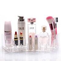 Klar Makeup Cosmetic Organizer Schmuck Aufbewahrungsbox Acryl Vitrine Schreibtisch Spitze Lagerung