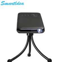 Smartldea Phone Size 200Lms brightness Micro DLP LED Android4.4 WiFi Projector with Battery Build-in Bluetooth AirPlay Miracast