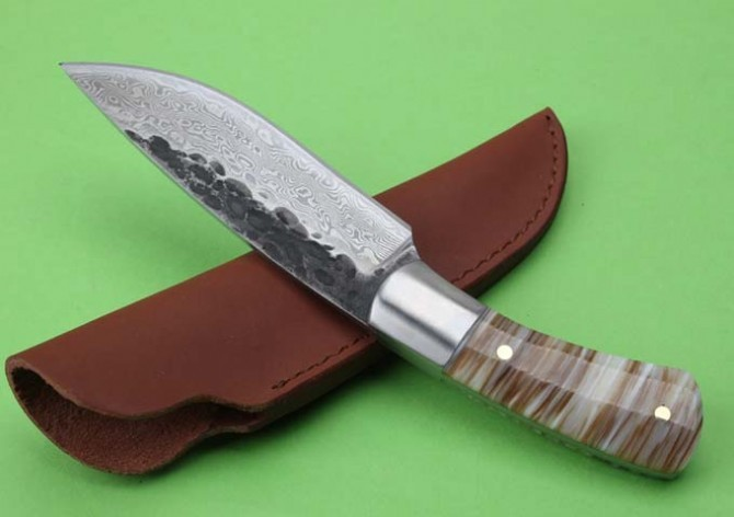 Buy Collection Hand-forged Tactical Fixed Knives,Shell Handle Camping Survival Knife,Hunting Knife. cheap