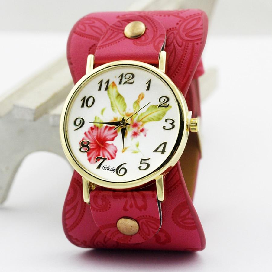 shsby Νέα Άφιξη Τυπωμένο δέρμα Βραχιόλι - Γυναικεία ρολόγια - Φωτογραφία 5