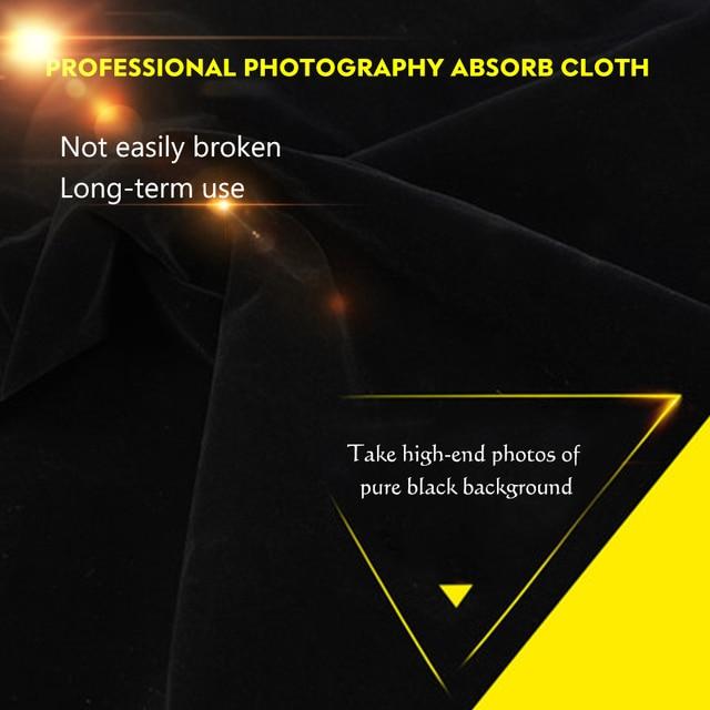 Background Flannel Photography Cloth Black Velvet Flocking Cloth Photography Backdrop For Studio Photo Prop 1M 2M 3M Cloth