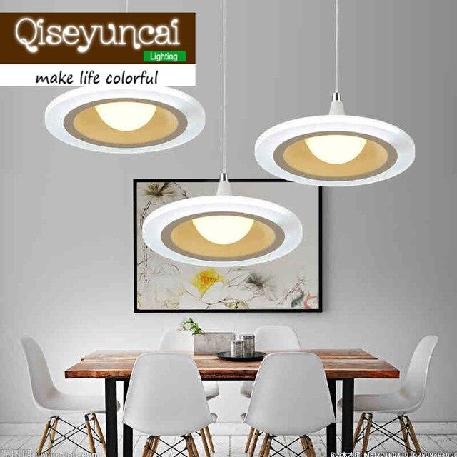 Qiseyuncai led ristorante lampadario moderno e minimalista rotondo ...