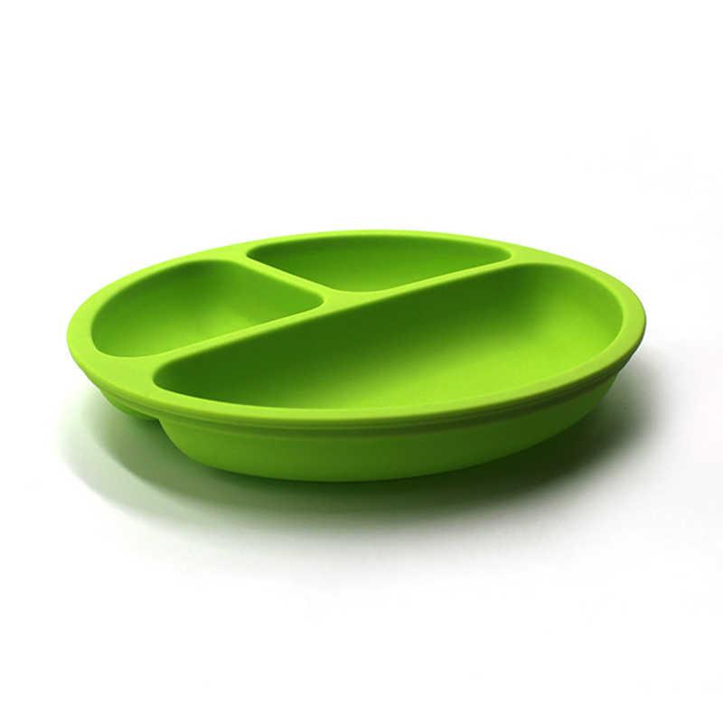 1 قطعة 100% سيليكون الطفل أطباق عاء مع الالتصاق سيليكون تغذية الغذاء لوحة صينية أطباق للطفل طفل طفل الأطفال لوحة