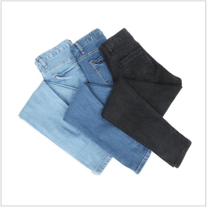 3afa412eb44 6 Extra Large Jeans For Women Plus Size XL-5XL Sky Blue Jeans Women s Ankle- Length Pants Elastic Feet Pencil Pants Preppy Style