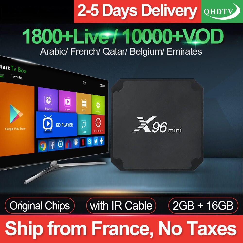 X96mini IPTV France Arabic TV Box Android 7 1 S905W 2G 16G with QHDTV 1 Year