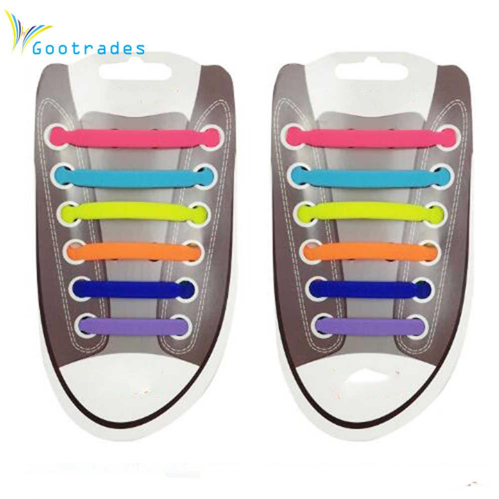 Творческий Дизайн унисекс Для женщин Для мужчин спортивные Бег без галстука Шнурки Эластичный Силиконовый обуви Кружево все Спортивная обувь 11 Цвета дополнительно