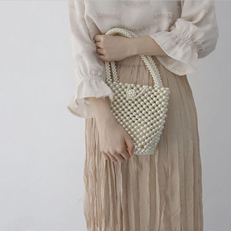 Perles perles sacs pour femmes sac à main mode à la main perles sacs à main femmes Vintage soirée sac dames luxe fourre-tout 2018