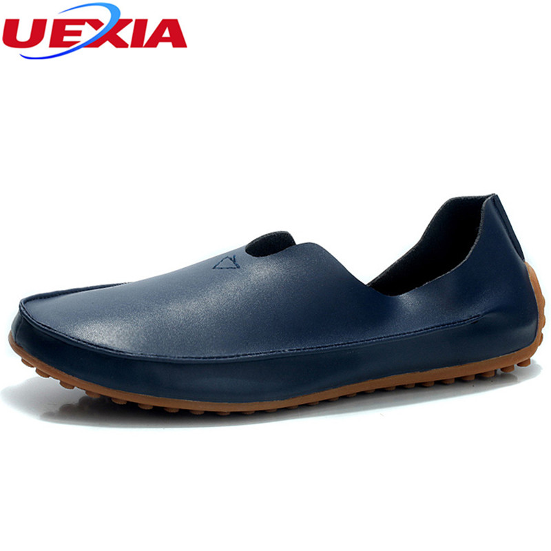 UEXIA Men's Shoes Men Leather Hollow Design Breathable Business Sapatos Masculinos Casual Driving Flats Loafers Big Size 36-47 big size 37 46 genuine leather men loafers breathable soft soled men shoes men moccasin driving men leather shoes