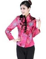Shanghai Story chinese traditional woman top floral blouse chinese traditional hanfu chinese clothing for women 2 color 2321