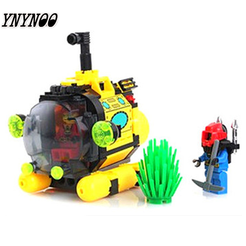 YNYNOO ENLIGHTEN 1213 City Series Treasure hunt tiny submarine Building Blocks Model Kids Toys For Children compatible Legoingly