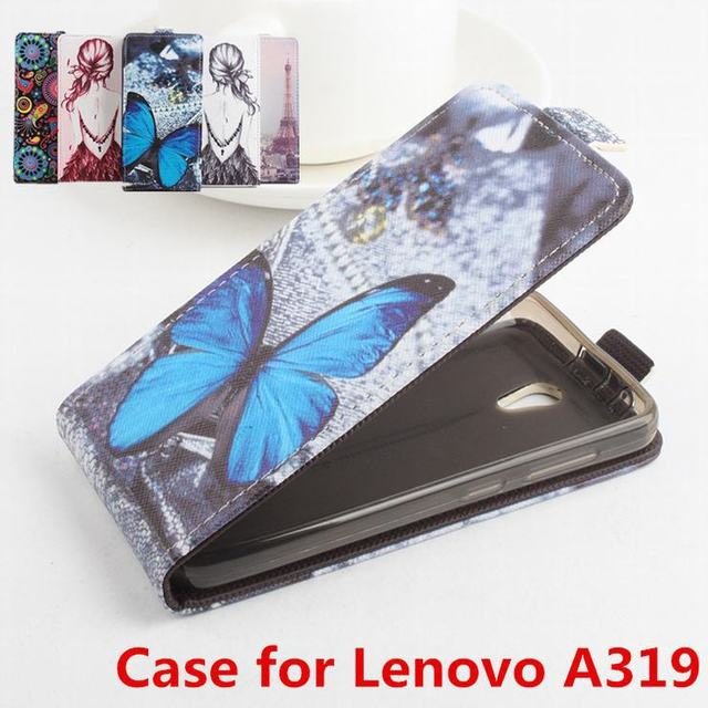 100% High Quality Leather Case For Lenovo A319 Flip Cover Case housing For Lenovo A 319 Leather Cover Mobile Phone Cases