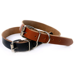 Cow Leather Pet Dog Cat Puppy Collar Neck Buckle Adjustable Gift