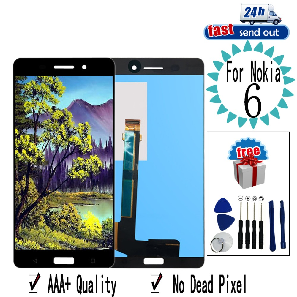 """5.5"""" N6 LCD For Nokia 6 LCD Display TA-1025 TA-1021 TA-1033 Touch Screen Digitizer Assembly Replacement For Nokia 6 N6"""