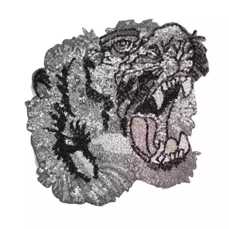 1 Pc Zilveren Pailletten Tiger Patches Voor Kleding T-shirt Diy Decoratie Patch Mode Applique Patches Ijzer Op Pailetten Plakken Moderne Technieken