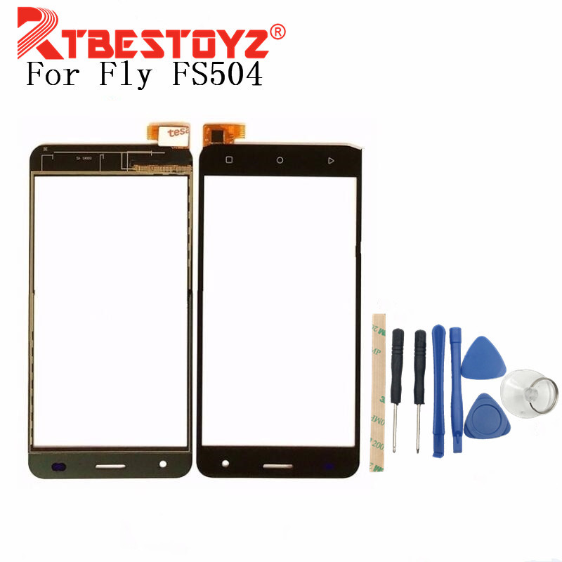 RTBESTOYZ Touchscreen For <font><b>Fly</b></font> FS504 <font><b>FS</b></font> <font><b>504</b></font> Cirrus 2 Sensor Touch Screen Digitizer Front Glass Lens Replacement + tools image