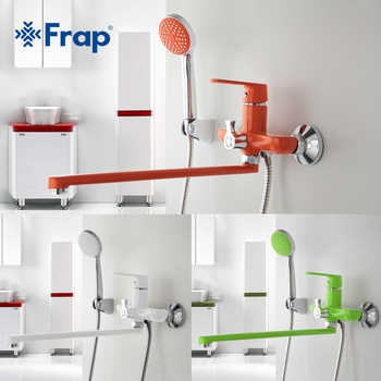 Frap 1 set 350mm Outlet pipe Bath shower faucet Brass body surface Spray painting Green shower head F2231 F2232 F2233 - DISCOUNT ITEM  45% OFF All Category