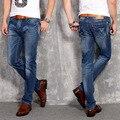 2016 Cuatro Estaciones nueva moda hombre casual jeans stretch Delgado versión Coreana de los pantalones rectos