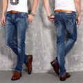 2016 Four Seasons new fashion casual men's stretch jeans Slim Korean version of the  straight trousers