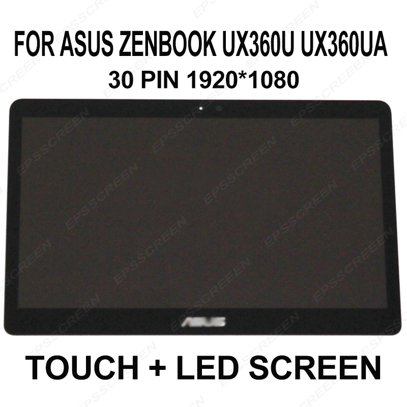 for Asus Zenbook UX360U UX360UA LCD Screen Touch Digitizer Assembly FHD 1920x1080 panel laptop screen B133HAN02