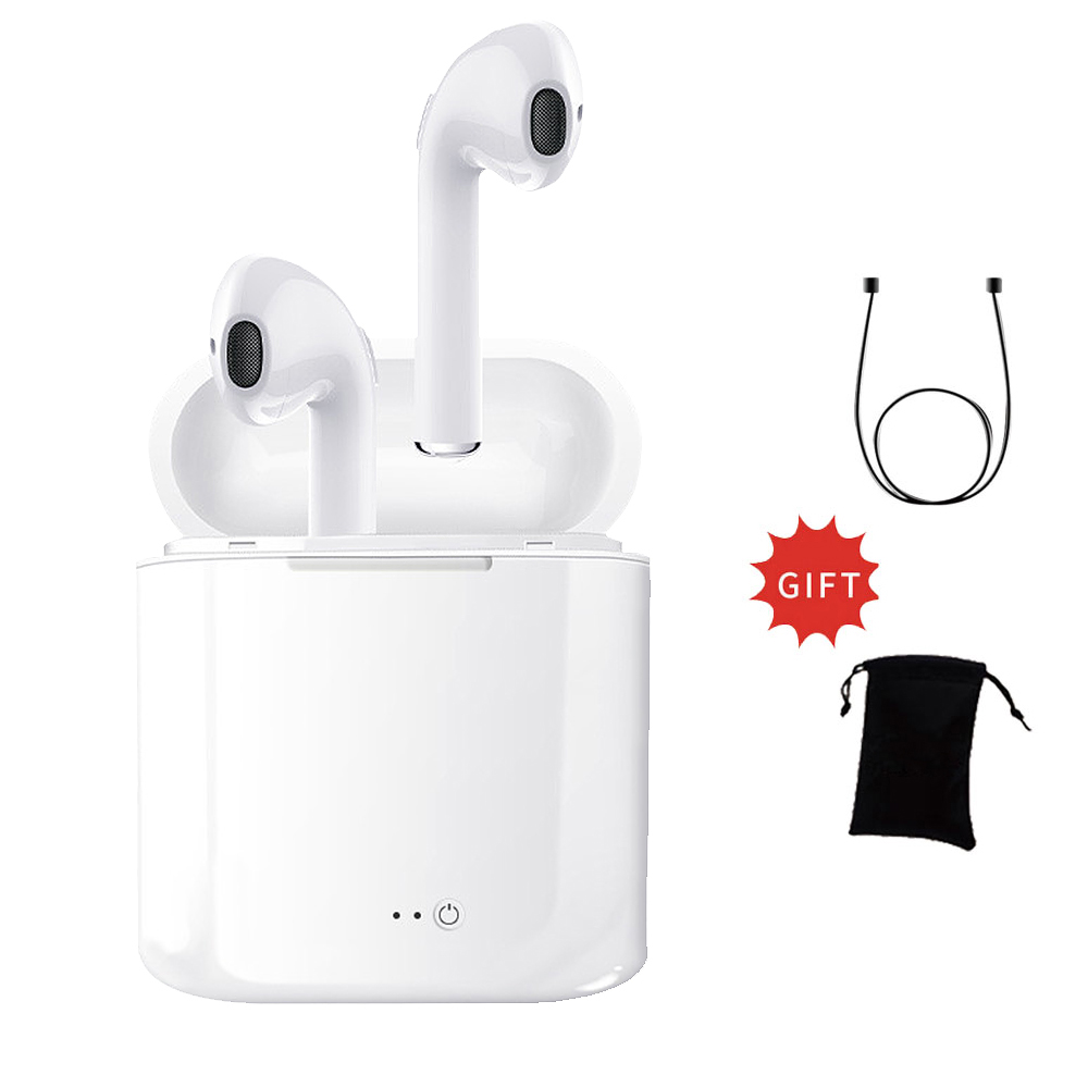 For Airpro Earpods I7s TWS Twins Wireles Earphone Bluetooth Earbuds Headset for Iphone X 8 8 PLUS 7 Plus 5 6s 6 Plus Galaxy S8