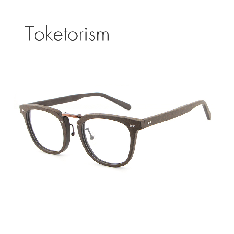 Toketorism Buatan Serat Kayu mode kacamata optik bingkai pria wanita - Aksesori pakaian - Foto 6