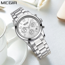 MEGIR Simple Fashion Quartz Chronograph Sport Women Watch To