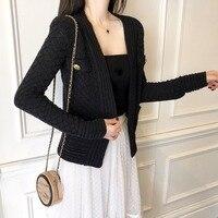 2019 luxury sweater women golden button cardigan coat ddxgz3