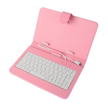 """Folio Stand Keyboard Leather Case Cover for 9"""" Tablet PC for Pad"""