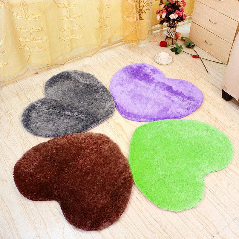 Heart Shaped Carpet Rug Bedroom Floor Mat Soft Fluffy Living-Room Bathroom Cover Decoration New Door