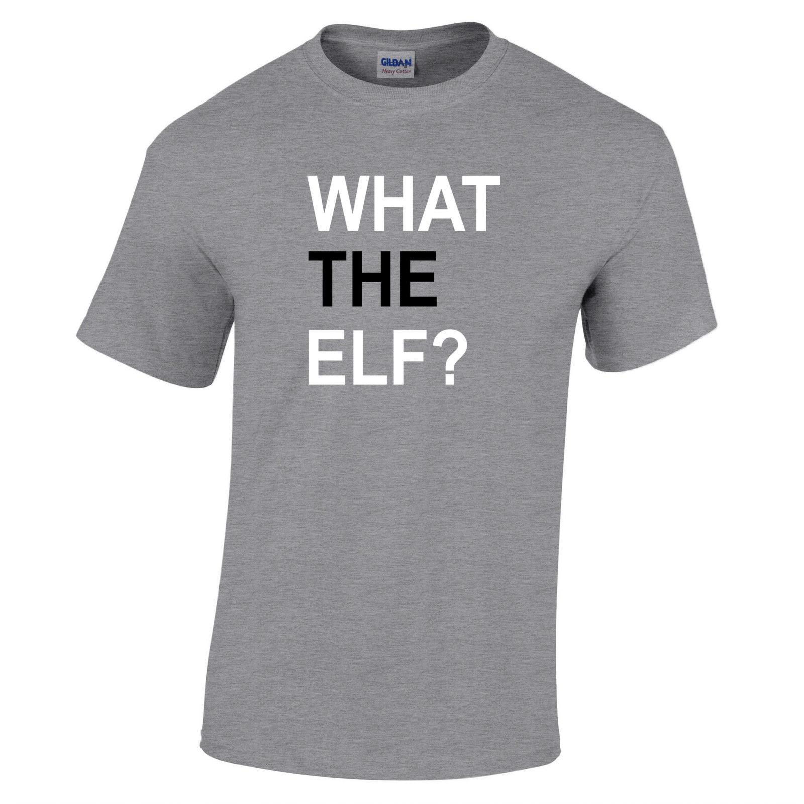 Shirt design companies - Company T Shirt Design What The Elf Men S Comfort Soft O Neck Short Sleeve