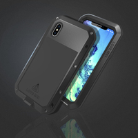 For iphone XS Waterproof Case iphoneXS Hard Shockproof Aluminum Metal Cover For iphone X Full Protection Phone Case