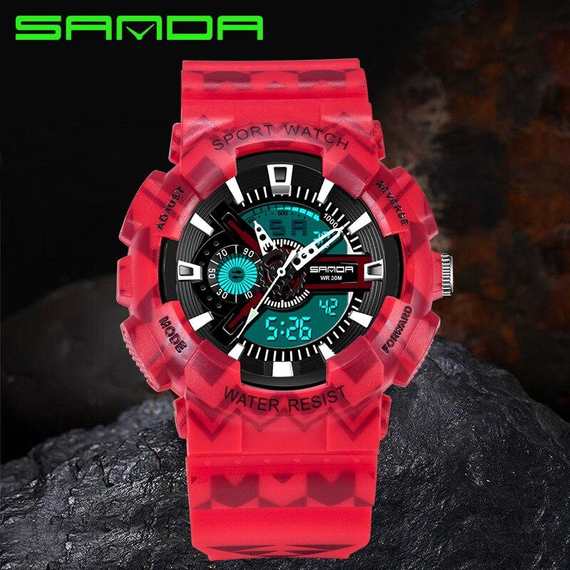 Multi-Function Fashion Camping Sports Watch Students LED Digital Fashion Watch dijital saat Male Clock Water Resist Sanda