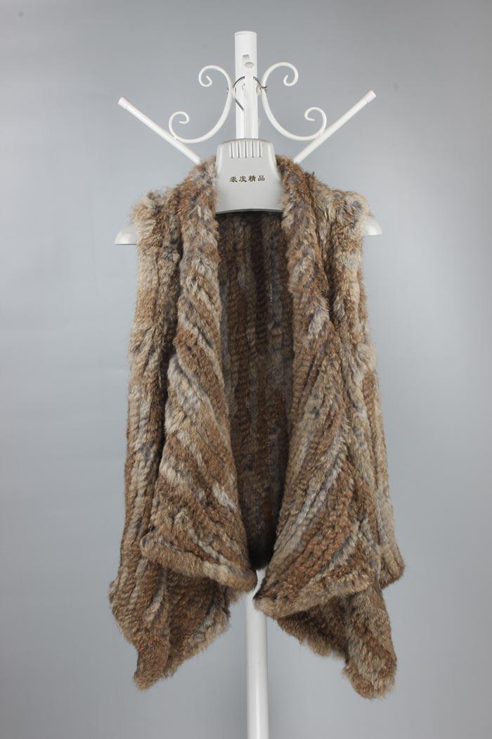 Sans Fourrure 5xl Taille Brun Grande Tricoté Crochet Cardigan En Manches Veste 6xl Noir Gilets Nature Lapin Réel De Gilet gZwqxBvf