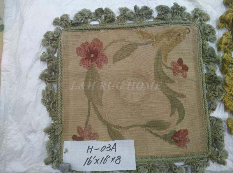 Free Shipping 16x16 (40x40cm) Aubusson Hand Woven Cushion, 100% New Zealand Wool handmade pillow, no insertionFree Shipping 16x16 (40x40cm) Aubusson Hand Woven Cushion, 100% New Zealand Wool handmade pillow, no insertion