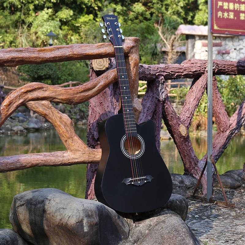 length 96 cm 38 inches beginner beginners to practice folk basswood d black guitar niumu metal. Black Bedroom Furniture Sets. Home Design Ideas