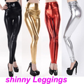 Free size Fashion Women's bright metallic printing prints elastic bodybuilding sexy Girl Leggings Pants