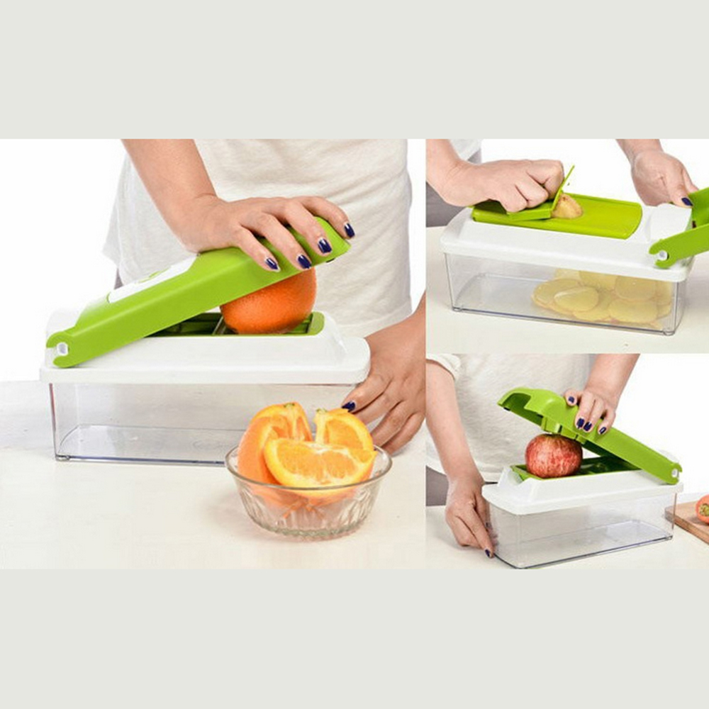 Manual  multifunction vegetable cutter. Made with stainless steel cutting blade sets that supply. Cut, chop, slice, dice fruit stainless steel manual slice tomato fruits and vegetables more chopper slice cutting machine