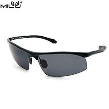 MILU Luxury Brand Logo Sunglasses For Men Aluminum Polarized Outdoor Sport Fishing Aviator Accessories oculos masculino S9046