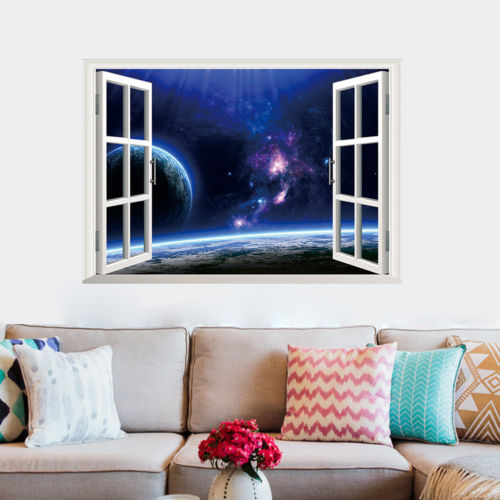 Camera Da Letto Blue Moon : Popular moon and stars wall decoration buy cheap