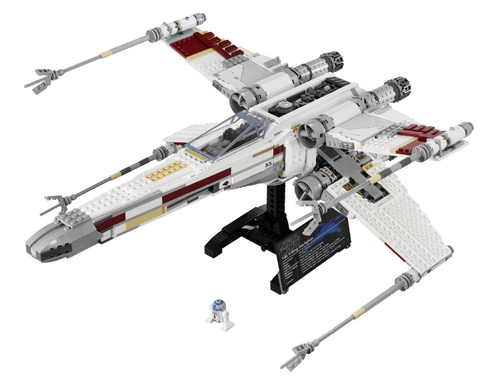 LEPIN STAR WARS Red Five X-Wing Starfighter Building Blocks Sets Bricks Kids Model Kids Toys Marvel Compatible Legoe kazi 608pcs pirates armada flagship building blocks brinquedos caribbean warship sets the black pearl compatible with bricks