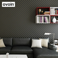 Brown Beige Black White Solid Glitter Texture Wallpaper Roll Modern Trellis Pattern Non Woven Wall Paper