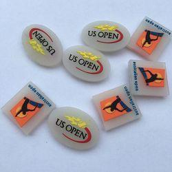 Venta al por mayor (200 unids/lote) amortiguador de Tenis de silicona abierto US/AUS para reducir los amortiguadores de vibración de raqueta Tenis